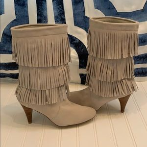 Chinese Laundry suede fringed boots size 7